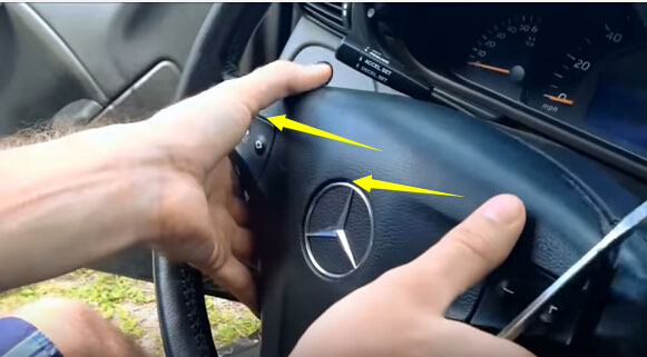 Mercedes Benz C230 Steering Angle Sensor Removal Guide