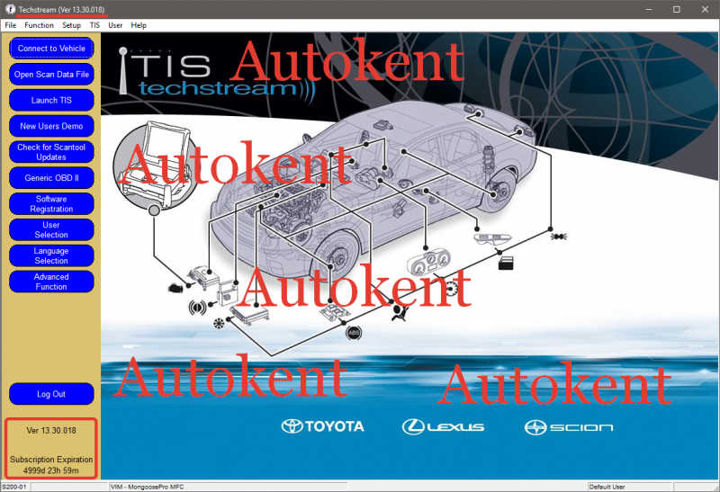 Latest Toyota TIS Techstream V13 30 018 Software Free Download