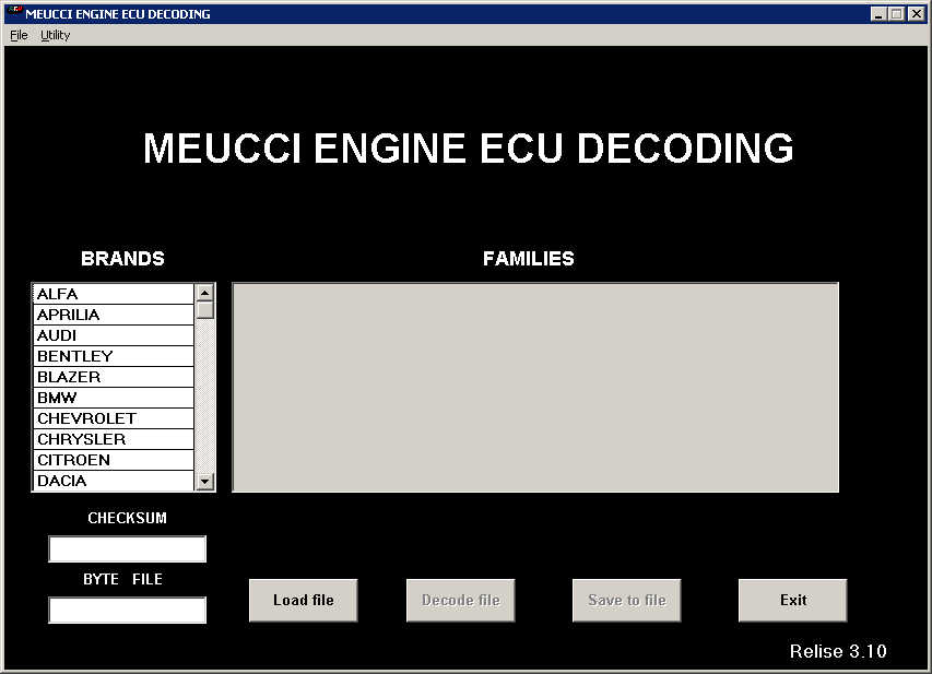 Meucci Engine ECU Decoding Free Download