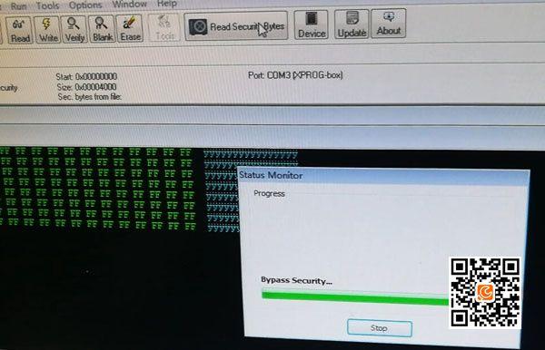 Read Audi ELV/ESL HC908GR16 with Xprog ECU Programmer     OBD2