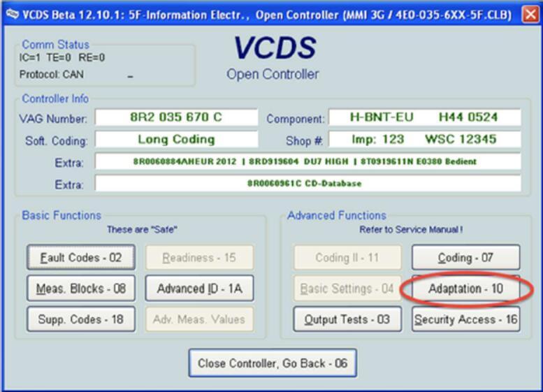 VCDS Solve MMI