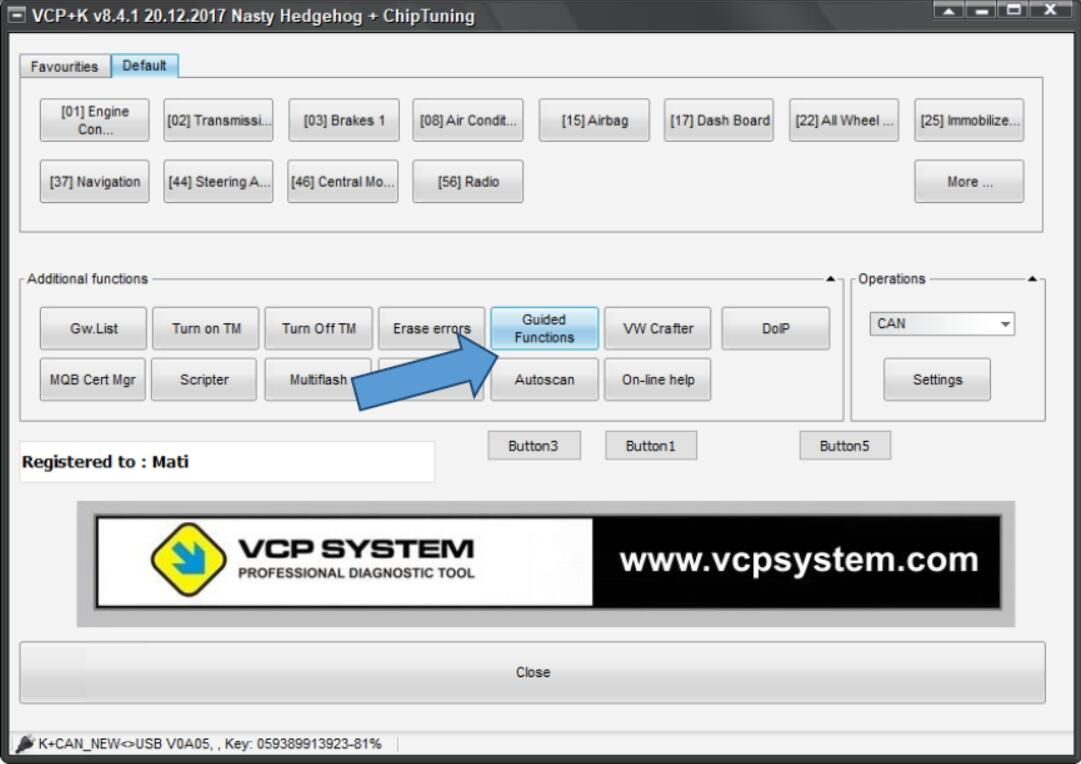 VCP System Unlock Speed Index for VW Golf 7