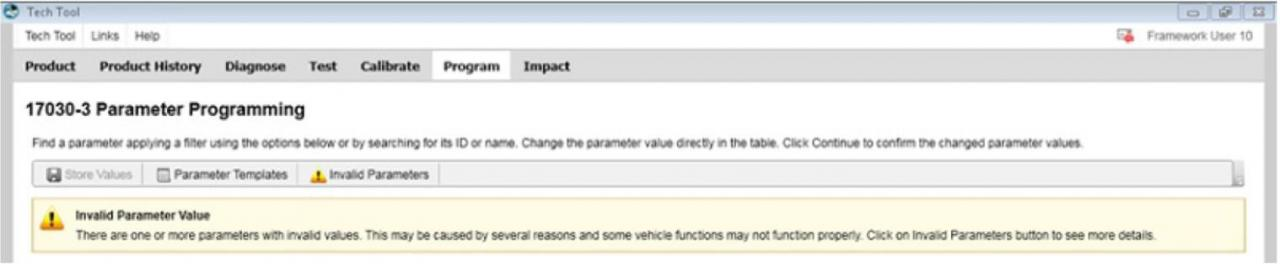 Volvo PTT Invalid Parameter Values Operation Guide