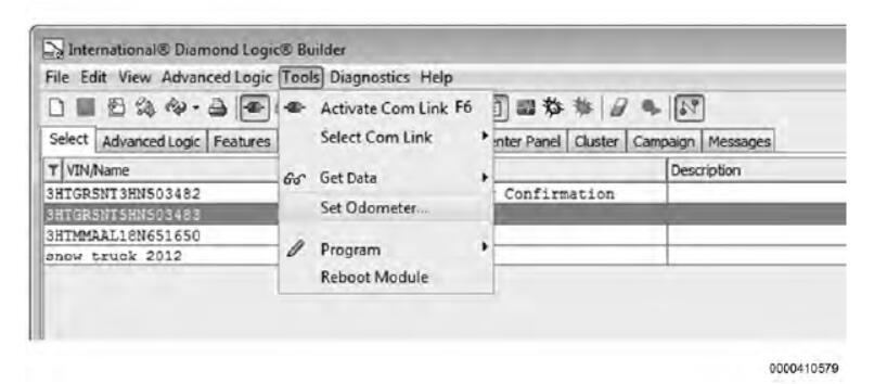 Diamond Logic® Builder Cluster Odometer Programming