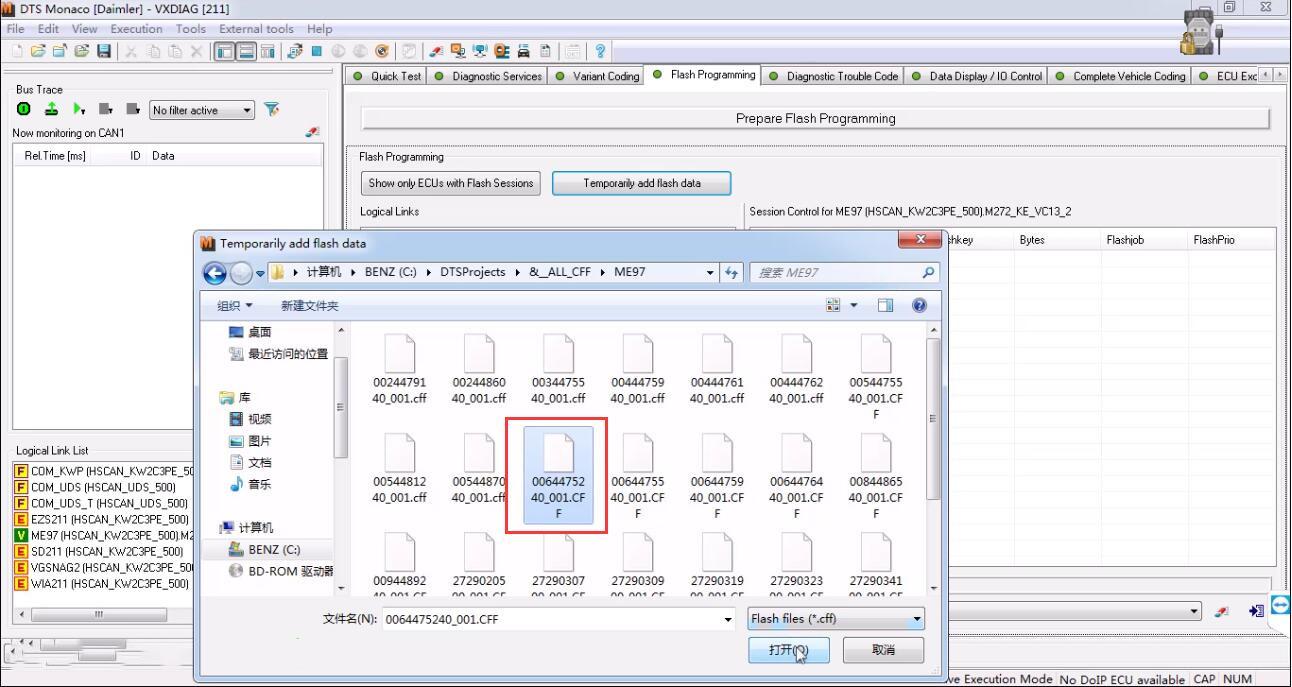 Benz 211 ME97 ECU Flash Programming by DTS Monaco | | OBD2 Scanner Blog