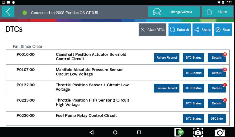 Bosch ADS 625 Read & Clear DTCs for Pontiac G6 2008 (3)