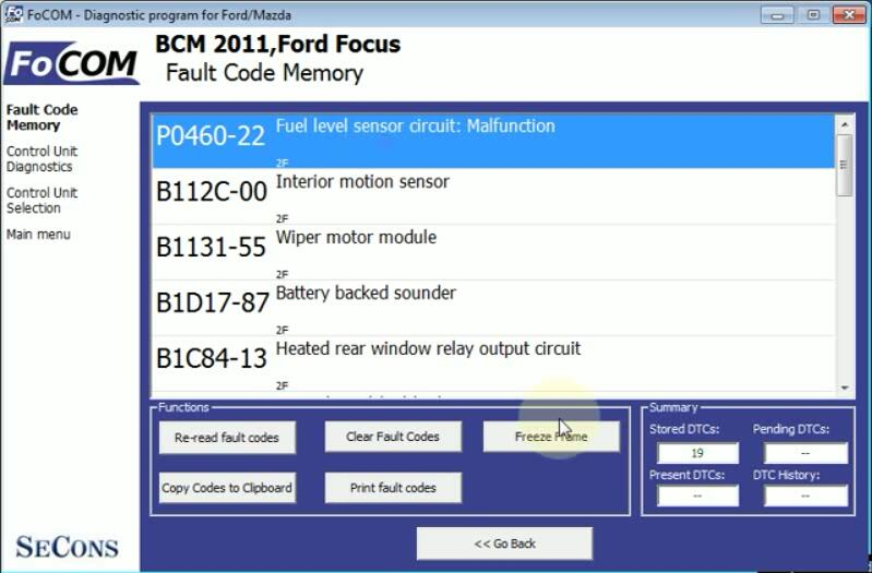 How to Use FCOM Trouble Codes Freeze Frame Function (4)