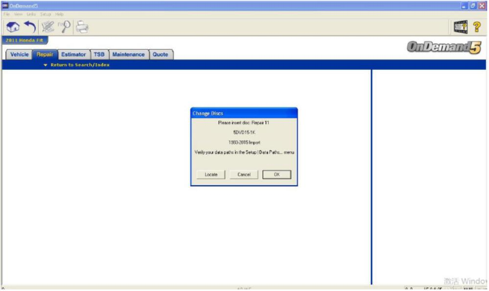 Open the Corresponding Disk When Running Mitchell Ondemand5 Software (3)