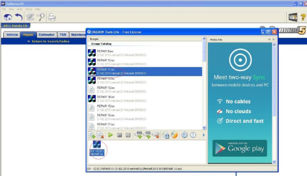 Open the Corresponding Disk When Running Mitchell Ondemand5 Software (6)