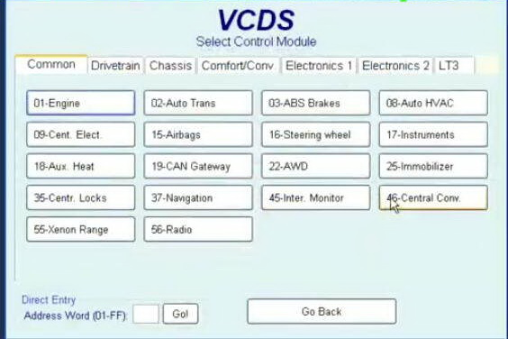VCDS VAG COM Program Add New Keys for Audi A4 2001-2008