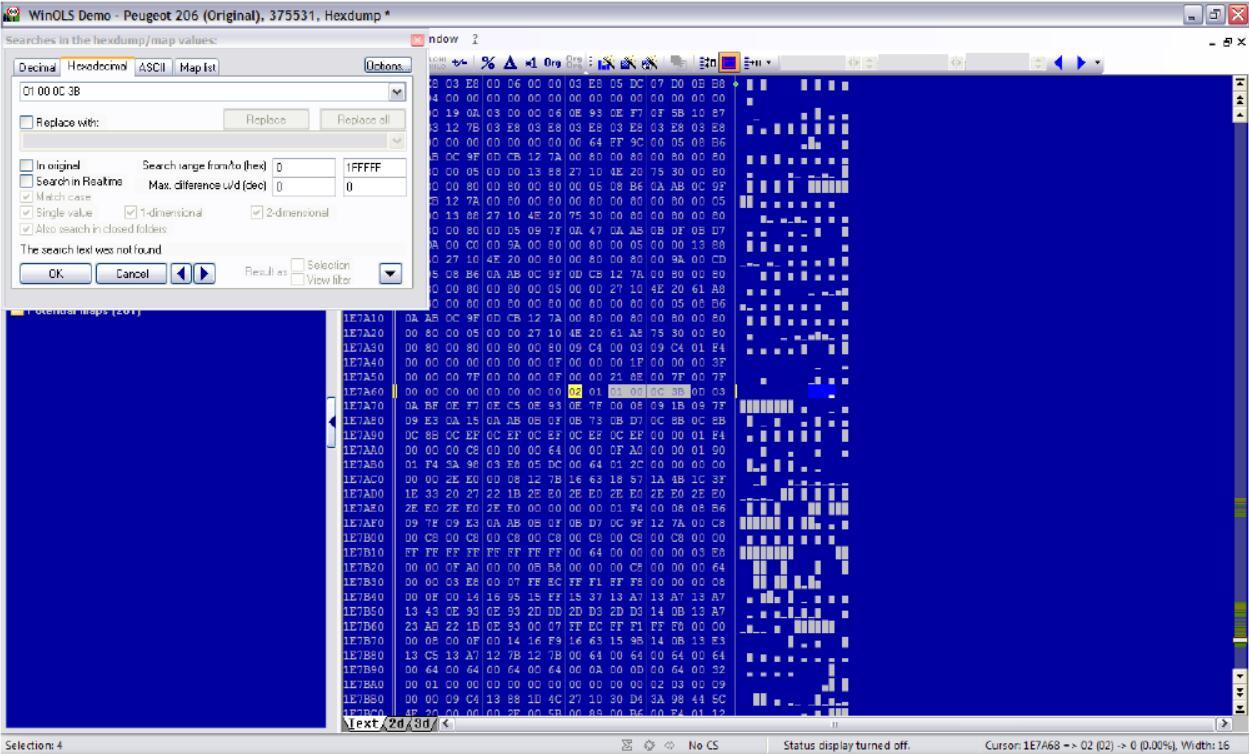 WinOLS Disable/Close FAP and DPF for EDC16C34