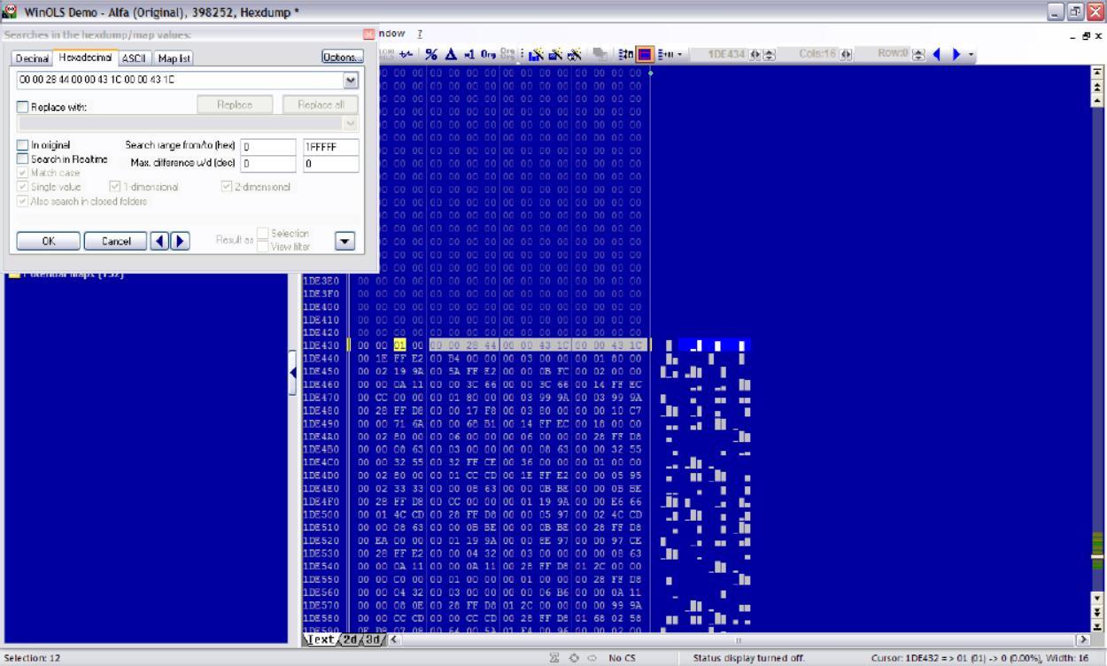 WinOLS DisableClose FAP and DPF for EDC16C34 (2)