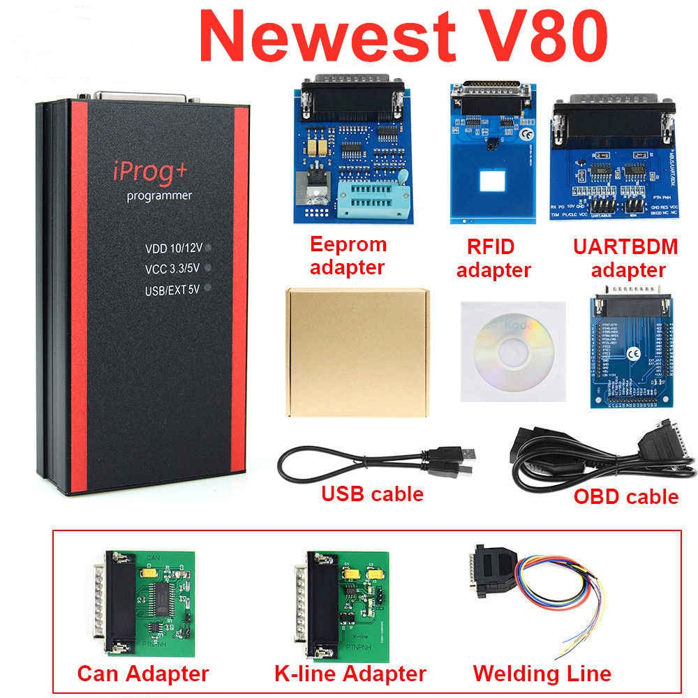 Iprog+ Pro Programmer ECU programmer Mileage Correct Tool  V80 vs.V77 V76