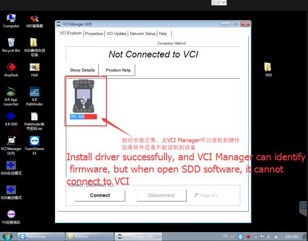 How to Solve JLR DoiP VCI Cannot Connect to SDD Software