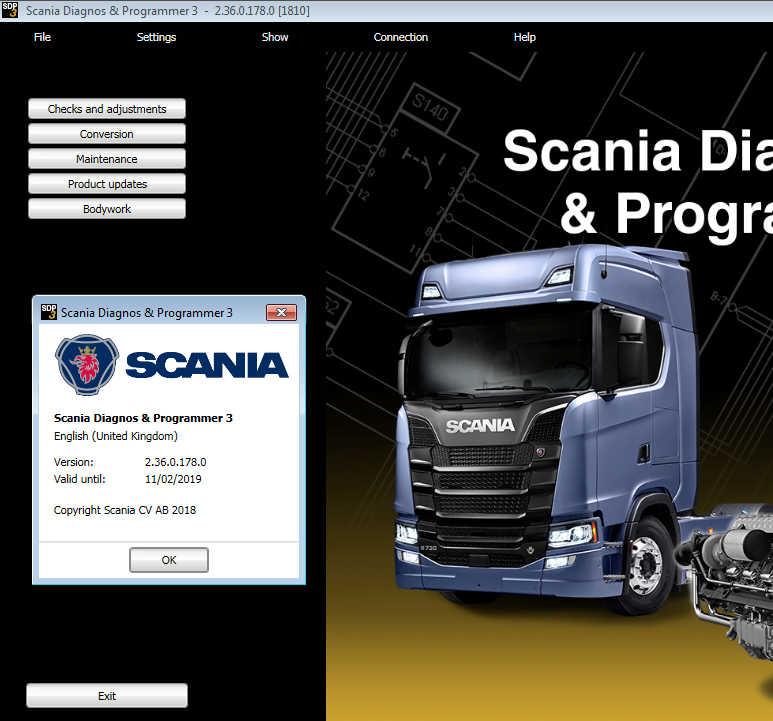 Scania VCI3 Diagnostic and Programming Software Scania SDP3 V2.40 V2.39 V2.36  Free Download