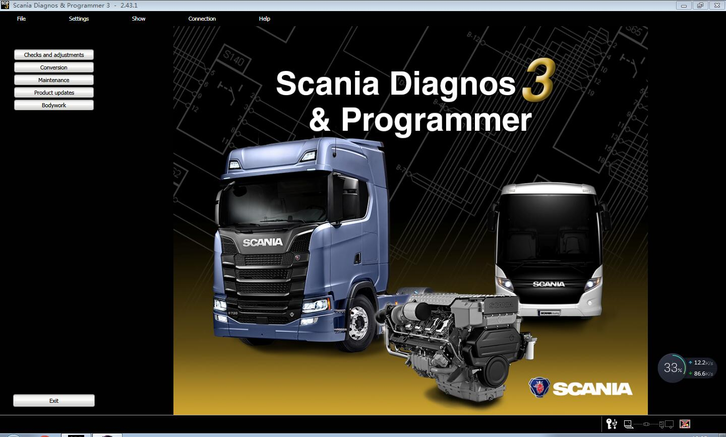 Scania Diagnos & Programmer 3 Version 2.43.1 SDP3  V2. 43.1 is available