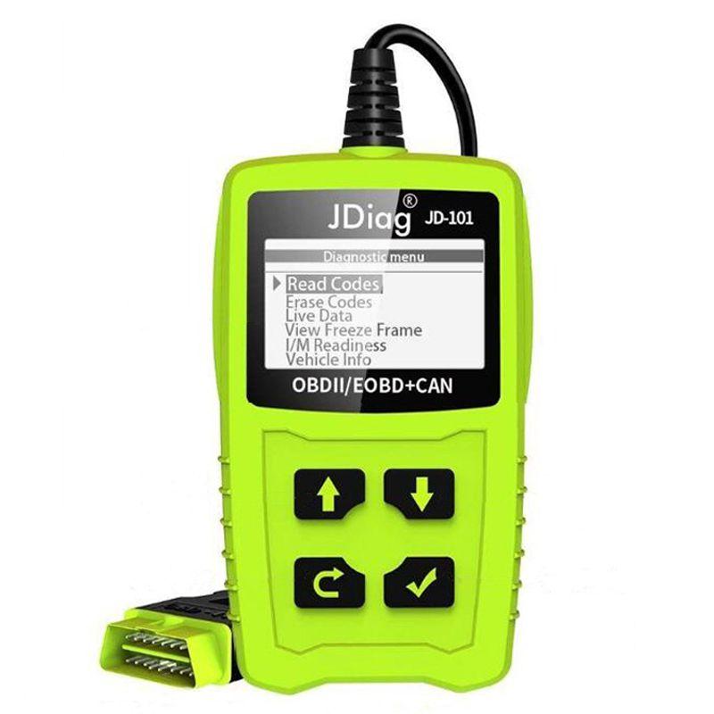 JDiag JD101 Code Readers Engine Scan Tool Check Engine Light Car Diagnostic Tool OBD2 Scanner Automotriz With Battery Test