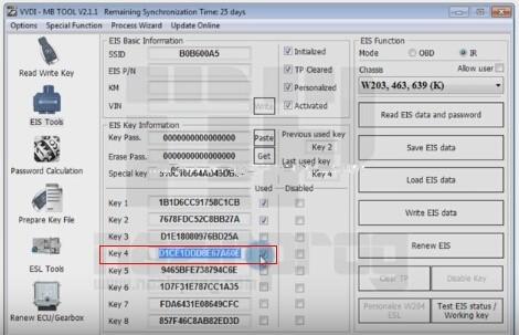 Benz W203 All Keys Lost Programming via VVDI MB Tool