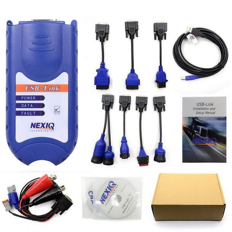 Only US$156.00 NEXIQ USB Link Truck Scanner tool for Tuvalu Valid untill 2019/2/19