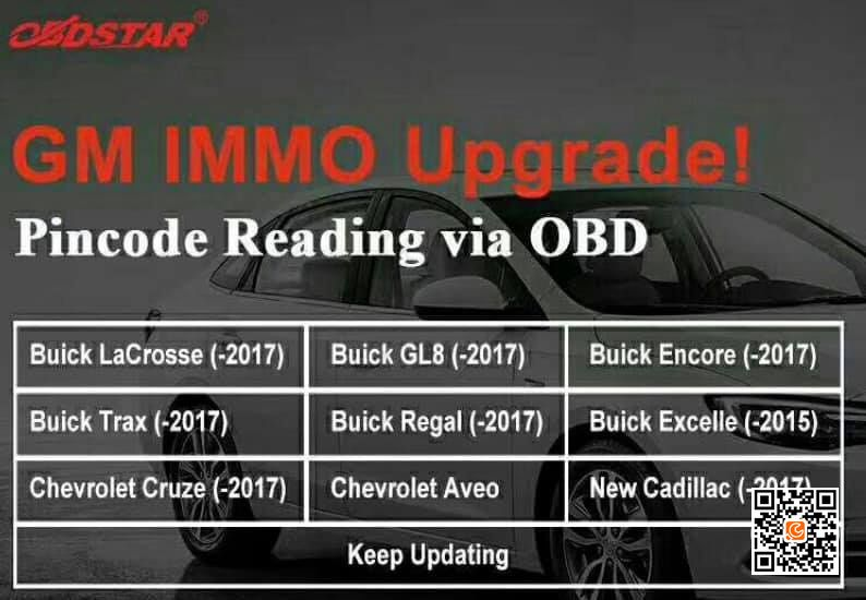OBDSTAR IMMO Update more American cars (GM, Ford, Chrysler, Lincoln…)