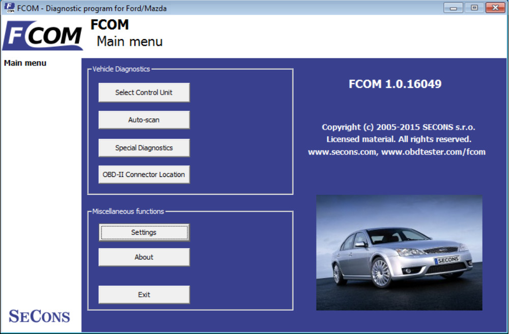 FCOM Ford OBD2 Diagnostic Software Introduction