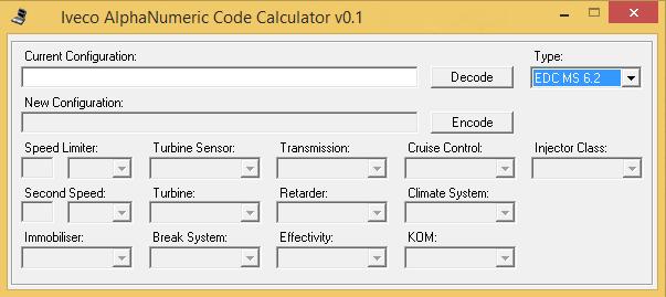 Iveco AlphaNumeric Code Calculator v0.1 Free Download