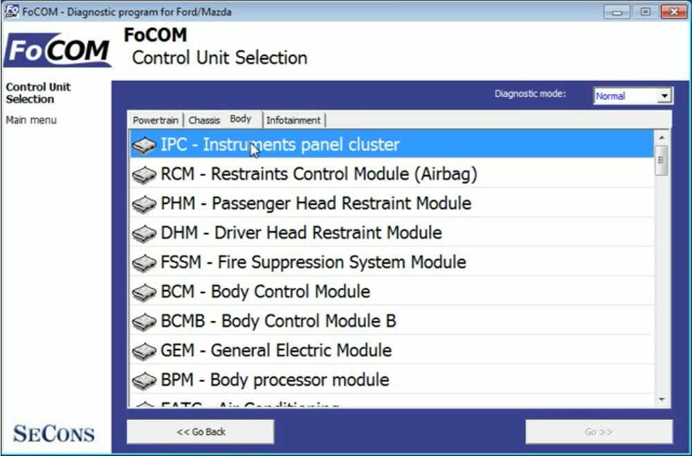 FCOM Reprogram/Configure ECU for Ford Focus 2008