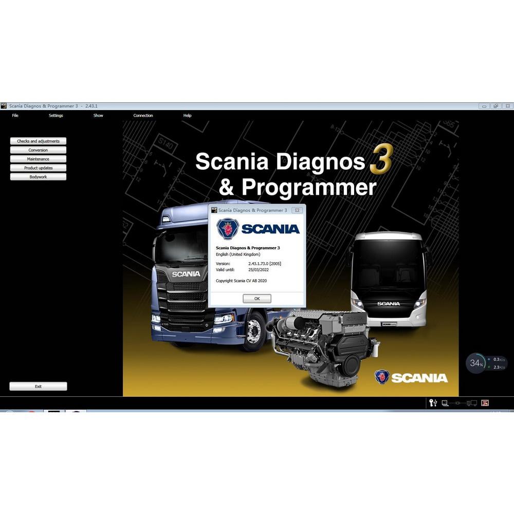 Scania SDP3 V2.44.3 Scania Diagnos & Programmer 3 2.44.3 Free Download link
