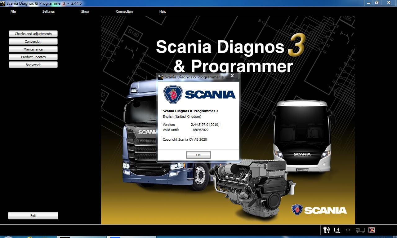 Scania SDP3 2.44.5 Scania Diagnos & Programmer 3 2.44.5 Free Download
